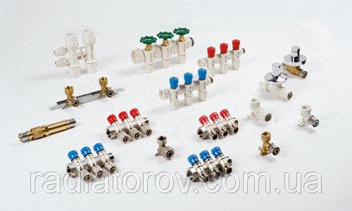Коллектор Valsir на два вывода с вентилями 3/4х2х16 (Италия) подача