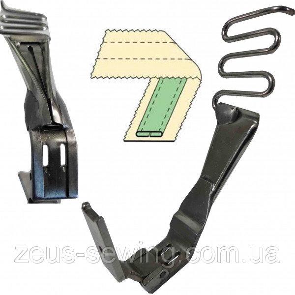 Лапка лампасная для двухигольных машин челночного стежка MS-112.
