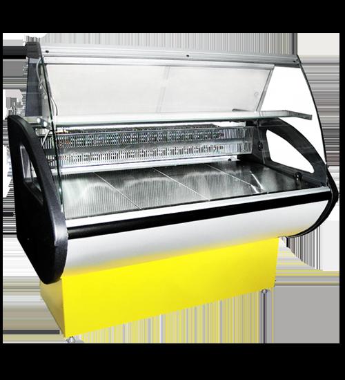 Холодильная витрина Россинка ВС с гнутым фронтальным стеклом