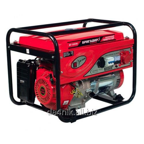 Купить Бензиновый генератор Бригадир Standart БГ-503H, 3-фазный, 5.0 кВт, р.с.