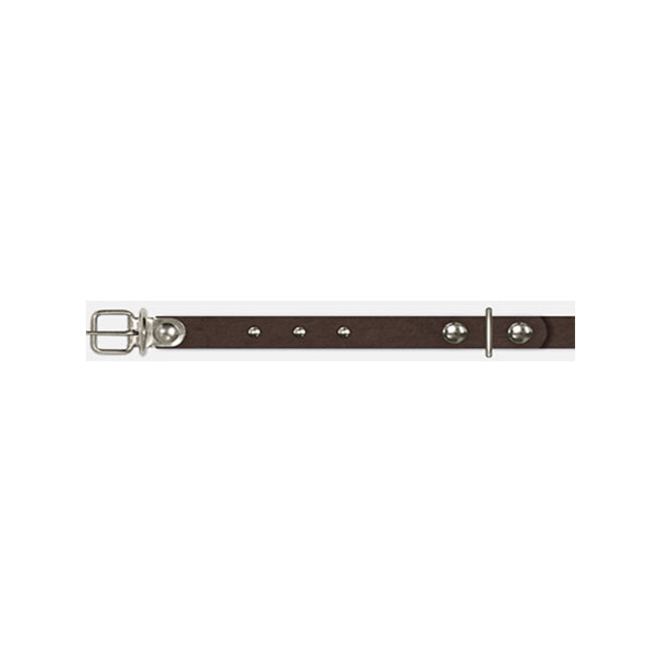 Ошейник из 2 частей с украшениями 1,2х23-29 см, коньяк Арт, 1323-34