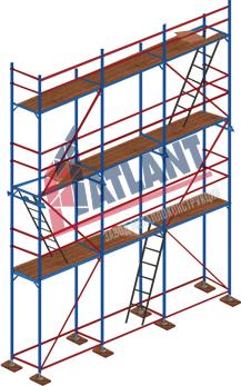 Рамные строительные леса 0,7 Professional «Атлант»