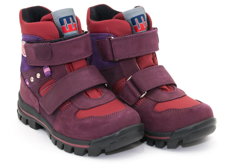 Ботинки зимние для девочки на липучках Эмблема Minimen c6e706181cbba
