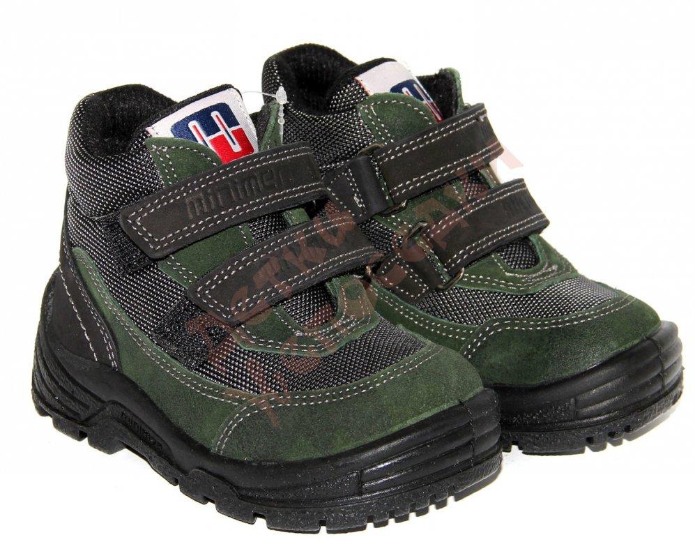 d80acee66 Ботинки зимние для мальчика на липучках Minimen, Зеленый, 23, 21-25, 23