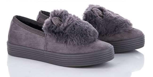 Купить Туфли для девочки зимние Автоледи Ушки Violeta, Серый, 38, 36-41, 38