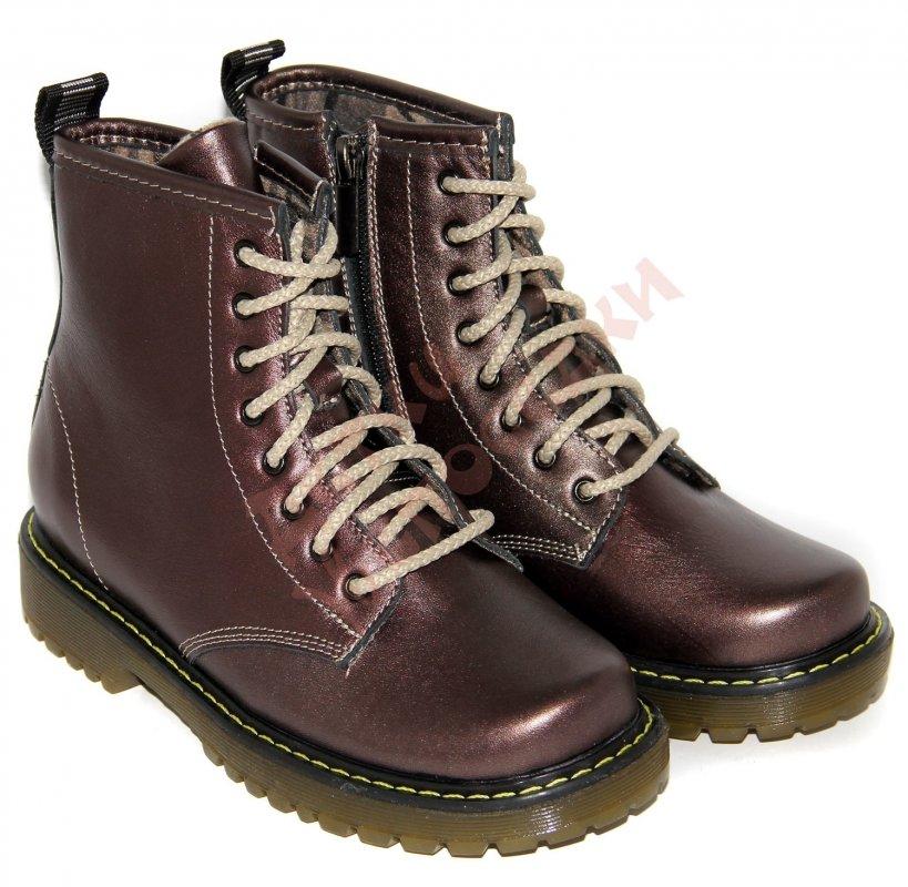 Купить Ботинки для девочки Bistfor, сливовый, 30, 30-35, 30