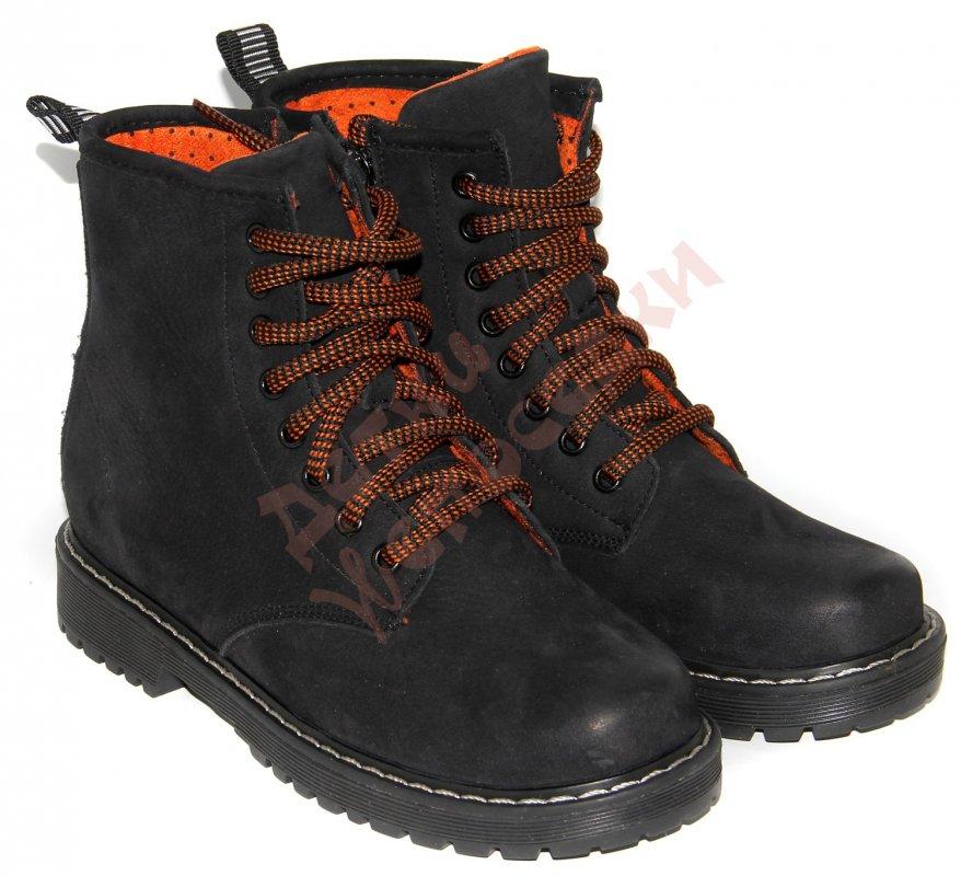 Купить Ботинки для мальчика Оранжевый шнурок Bistfor, Черный, 35, 33-36, 35