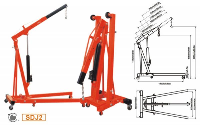 Кран- стрела гидравлический Shop Crane--SDJ2