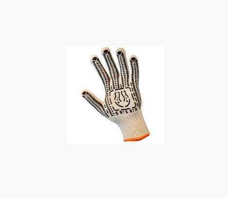 Перчатки трикотажные уплотн. с ПВХ-точкой (7 нити)