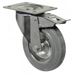 Колёса на резиновом ходу поворотные norma с крепежной панелью серия 21 Norma.