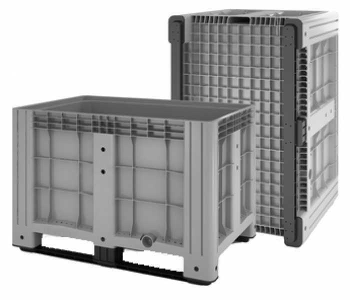 Цельнолитой складской пластиковый контейнер IBox