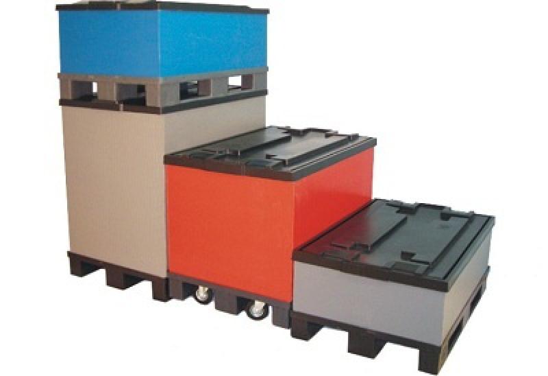 Складской разборный пластиковый контейнер Poly Box