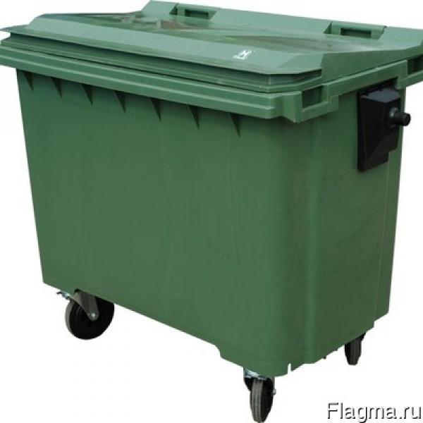 Мусорный контейнер бак для ТБО 1100л