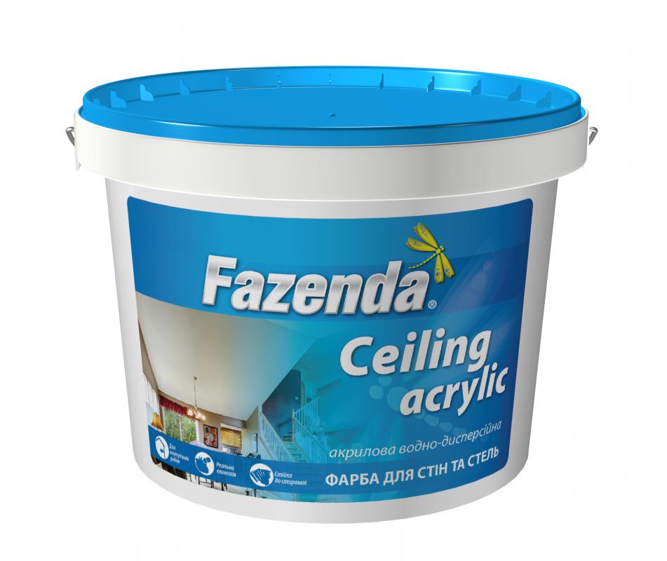 Краска интерьерная для потолков Ceiling Acrilic Fazenda