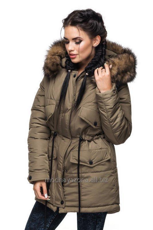 Купить Зимняя куртка с натуральной опушкой.