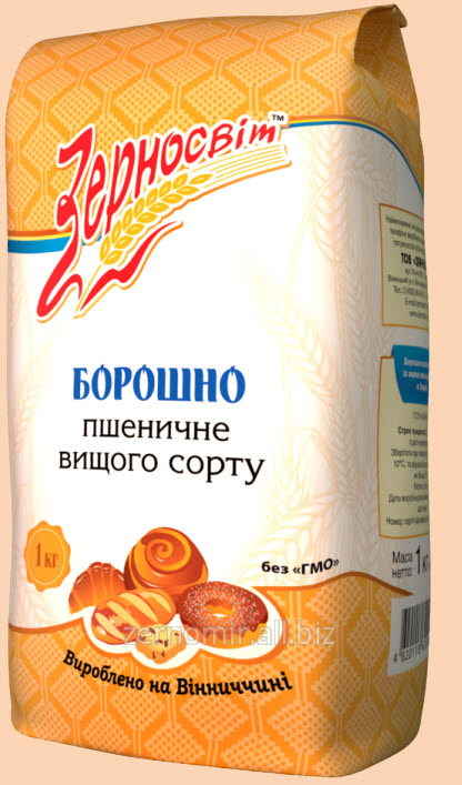 Мука пшеничная  высшего сорта фасованная 1 кг