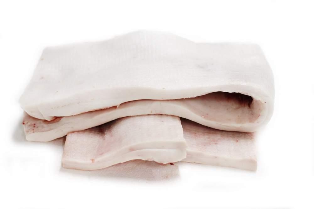 Сало свиное хребтовое без шкуры, охлажденное