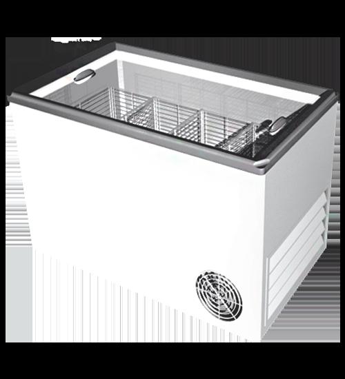 Низкотемпературные (морозильные)  лари с плоским стеклом (с пластиковой рамкой)