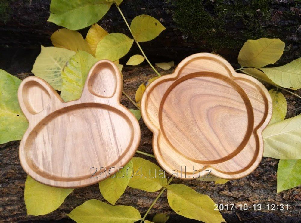 Посуда для детей из дерева