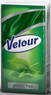 Носовые платки Velour зеленый чай Эко