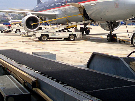 Конвейерная лента Rough Top Conveyor Belts   Supergrip Conveyor Belts для аэропорта