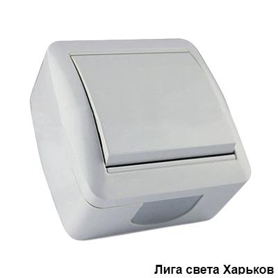 Выключатель накладной 1-й Lemanso Магнолия белый LMR2001