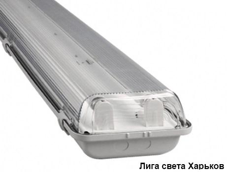 Люминесцентный влагозащищенный светильник ЛПП - 04 2*18