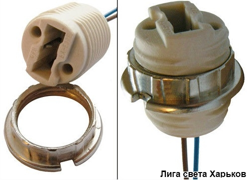 Патрон Lemanso G9/провода/LM112 + гайка