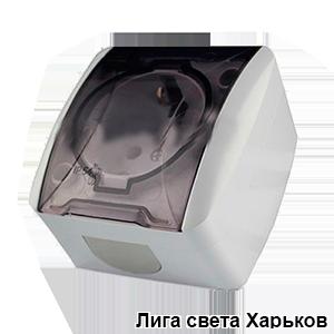 Розетка накладная 1-я с заземлением+крышка Lemanso Магнолия белая LMR2005