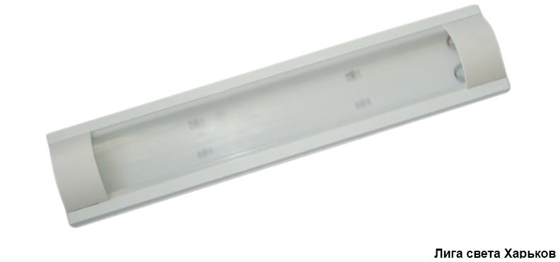 Светильник люминесцентный Lemanso 2x36 T8 две лампы матовый плафон без ламп /LM936