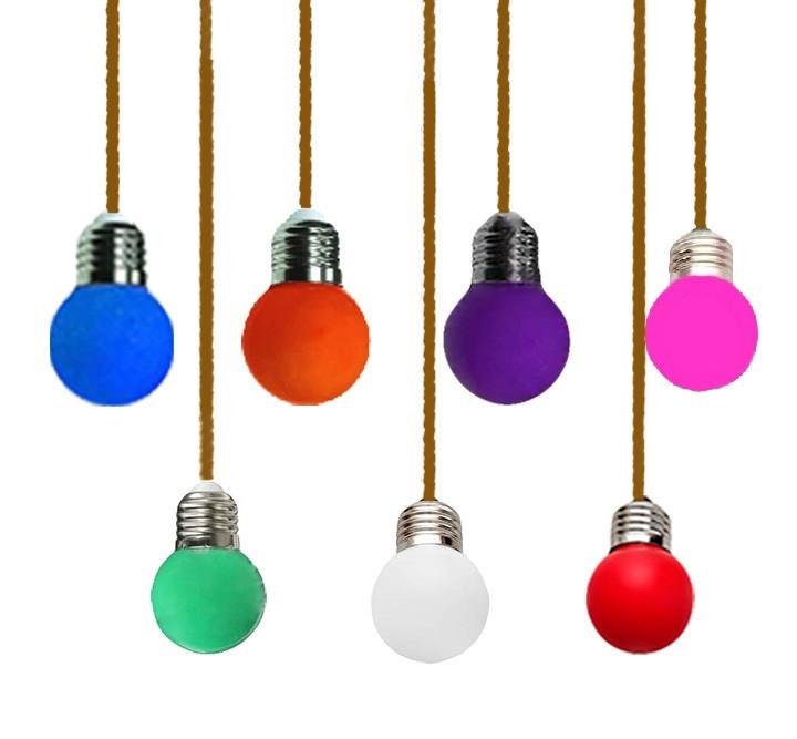 Лампа Lemanso LED G45 E27 1,2W цветной шар/LM705