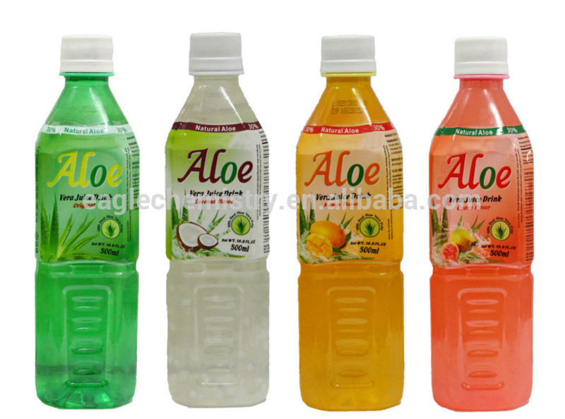 Natural Aloe Vera Soft Drink With Pulp and coca cola