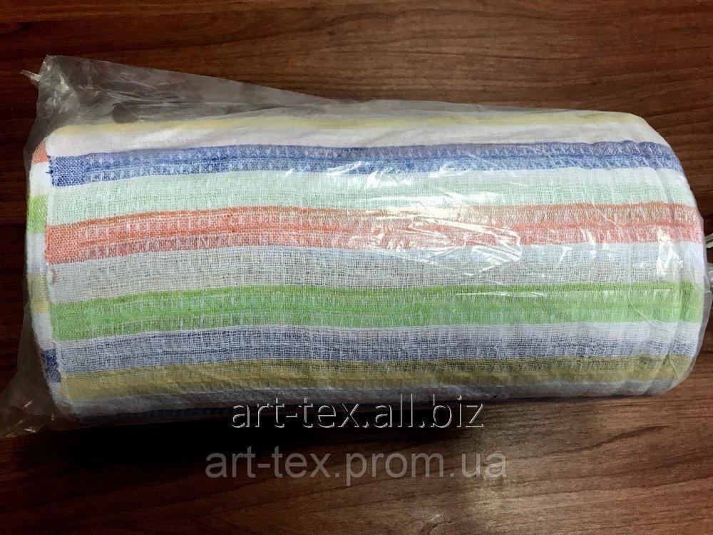 Полотенечное вафельное цветное - 2 сорт