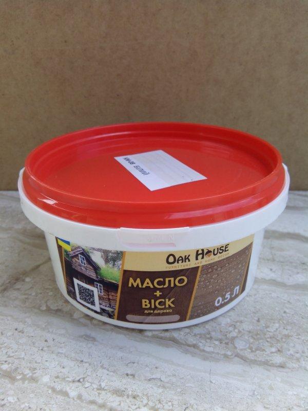 Купить Масло для обработки деревяной вагонки Oak House 0.5л. палисандр