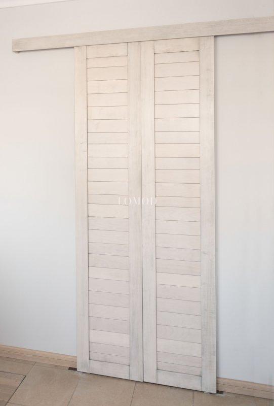 Дверь раздвижная из дерева. Модель Loft  White.