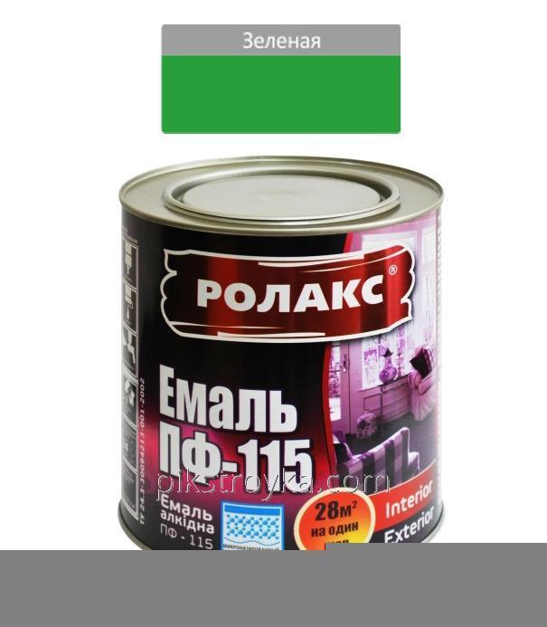 Эмаль алкидная зеленая ПФ-115К 0,9кг Ролакс 1/12