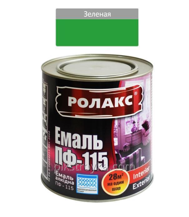 Эмаль алкидная зеленая ПФ-115К 2,8кг Ролакс 1/6