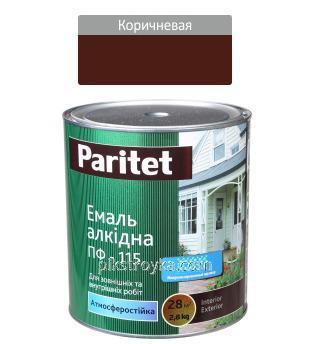Эмаль алкидная коричневая ПФ-115 0,9кг Paritet 1/12