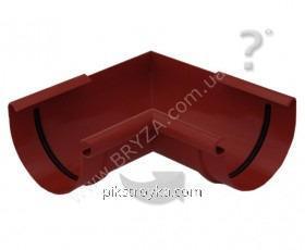 Угол внутренний пластиковый красный 90° Ø100мм Bryza 1/10