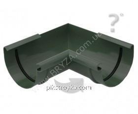 Угол внутренний пластиковый зеленый 90° Ø125мм Bryza 1/10