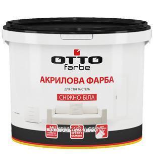 Краска акриловая снежно-белая 1.4кг Оtto farbe 1/6/432
