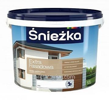 Краска акриловая фасадная Extra Fasad14кг Sniezka 1/44