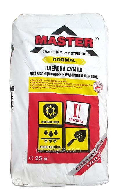 Смесь клеевая для плитки для внутренних и наружных работ Нормал 25,0кг Master 1/54