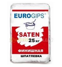 Шпатлевка финишная гипсовая Saten 25,0кг Eurogips 1/54