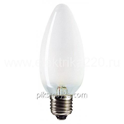 Купить Лампочка свеча 60Вт шир.цок.Е27 1/210