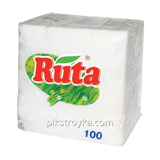 Салфетка столовая Ruta 24*24 100шт Белые 1/32