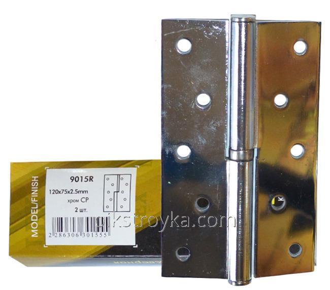 Купить Петля съемная 9015 120*75*2,5мм левая СР-хром Lex 1/1