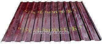 Профнастил с полимерным покрытием 0,24*950*2000мм RAL3005 вишневый Budmonster 1/10/250 1 сорт
