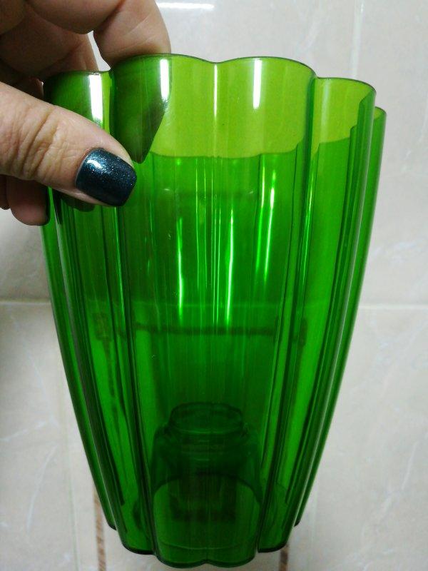 Кашпо для Орхидей Ромашка, зелёный d 140 mm