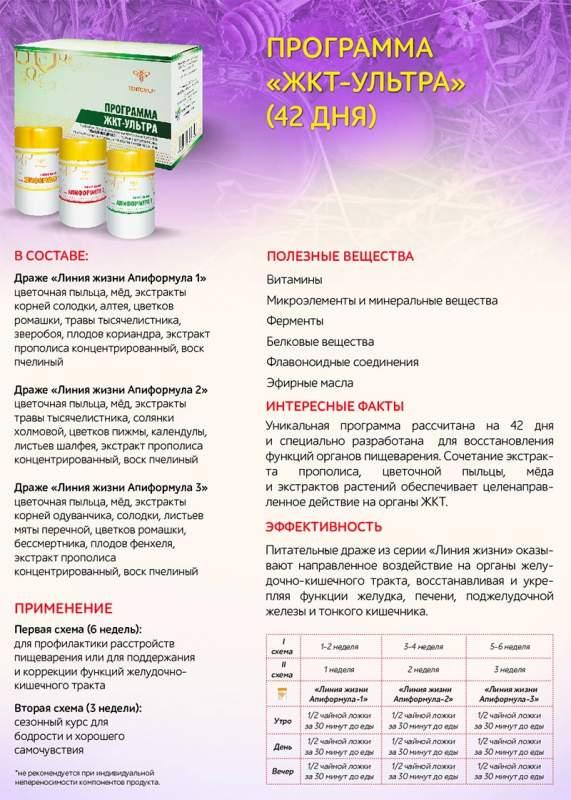 ЖКТ программа (ЛЖА-1, 2, 3)